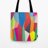 dots Tote Bags featuring Dots by Joe Van Wetering
