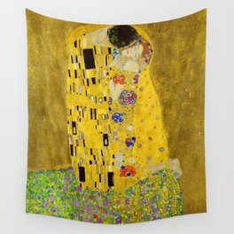 The Kiss (High Resolution) Wall Tapestry