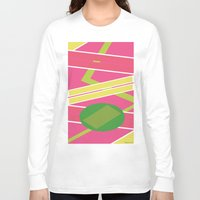 back to the future Long Sleeve T-shirts featuring Back 2 The Future by TheArtGoon