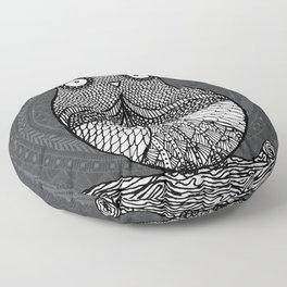 Doodle Owl Floor Pillow