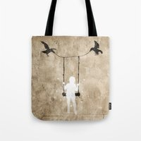 led zeppelin Tote Bags featuring led by Seamless