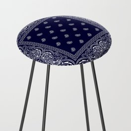 Bandana - Navy Blue - Southwestern Counter Stool