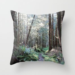 Quinault Rain Forest Throw Pillow