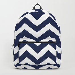 Space cadet - blue color - Zigzag Chevron Pattern Backpack