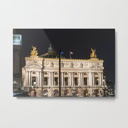 Paris, Opéra Garnier night Metal Print