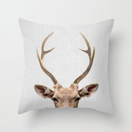 Deer - Colorful Throw Pillow