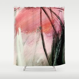 Train of thought: a vibrant abstract mixed media piece Shower Curtain