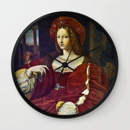 Joanna of Aragon by Raphael Wall Clock