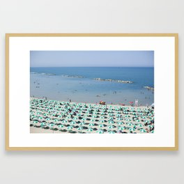 Termoli Beach Umbrellas Framed Art Print