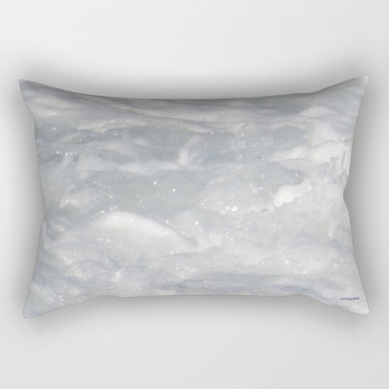 TEXTURES: Laguna Beach Sea Foam #1 Rectangular Pillow