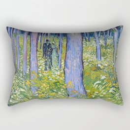 Vincent van Gogh Undergrowth with Two Figures Rectangular Pillow
