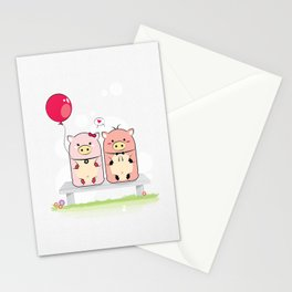 Piggie Couple Stationery Cards