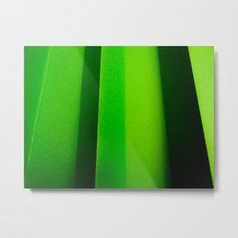 Green Folds I Metal Print