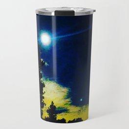 Full Moon Over Crystal Lake Campground Travel Mug