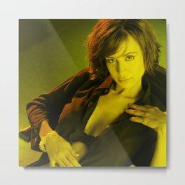 Catherine Bell - Celebrity (Photographic Art) Metal Print