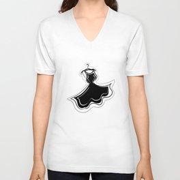 Little Black Dress Unisex V-Neck