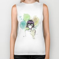 mia wallace Biker Tanks featuring Mia. by Cloe