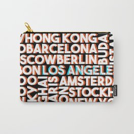 L.A. - City names typo graphic Carry-All Pouch