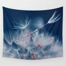 Snow Dandelion Wall Tapestry