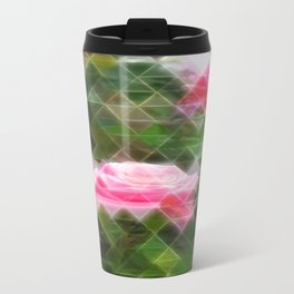 Pink Roses in Anzures 5 Art Triangles 2 Travel Mug