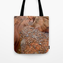 After the Rain - 5, Valley_of_Fire Canyon, Nevada Tote Bag