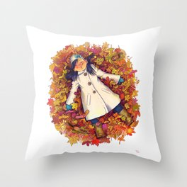 Fall love Throw Pillow