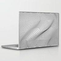 flag Laptop & iPad Skins featuring Minimal Curves by Leandro Pita