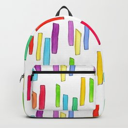 """""""Equality!"""" Watercolor Painting Rainbow Colorful Pattern Minimal Gay Lesbian Couple Gift Backpack"""