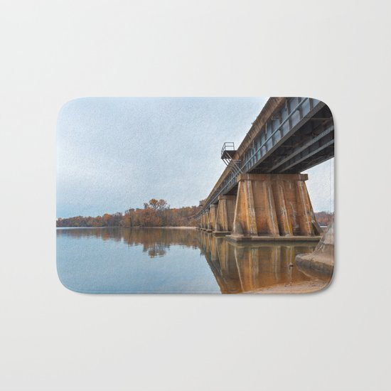 Rustic Leesylvania Bridge Bath Mat