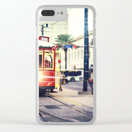 New Orleans Streetcar Clear iPhone Case