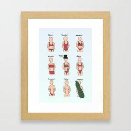 Swimsuit Sale Framed Art Print