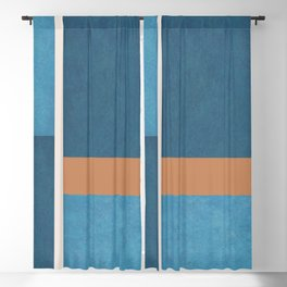 Intercepts, Geometric Forms Shapes Blackout Curtain