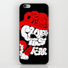 smoking skull iPhone & iPod Skin