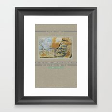 Im learning to Sail my ship Framed Art Print