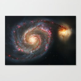Whirlpool Galaxy and Companion Galaxy Canvas Print
