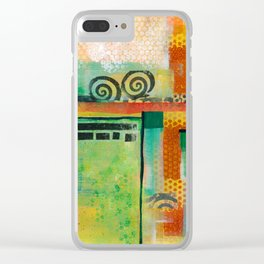 Abstract Landscape II Clear iPhone Case