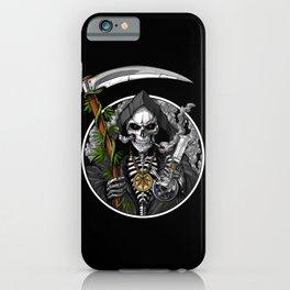 Grim Reaper Weed Stoner iPhone Case