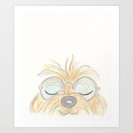 Woof You Groovy Dog Art Print