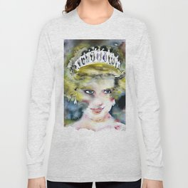 DIANA ,PRINCESS OF WALES - watercolor portrait .2 Long Sleeve T-shirt