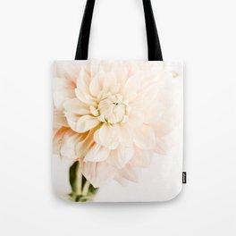Vanilla Truffle Dahlia Tote Bag
