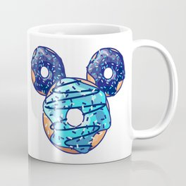 Pop Blue Donut Coffee Mug