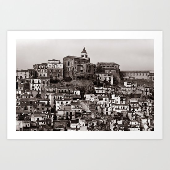 "Urban Landscape - Cathedrale - Sicily - Duplex - ""VACANCY"" zine Art Print"