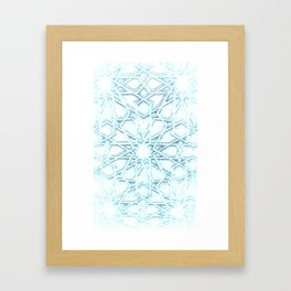 Atomic Snowflake Framed Art Print