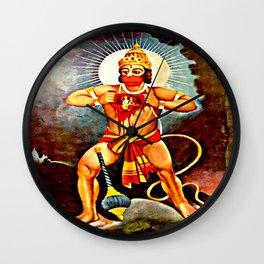 Hanuman showing Rama in His heart Wall Clock