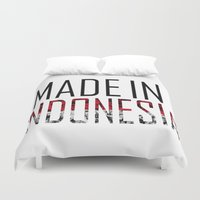 indonesia Duvet Covers featuring Made In Indonesia by VirgoSpice