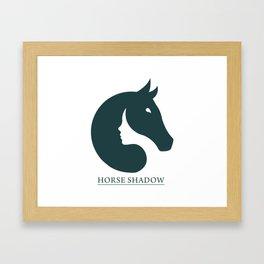 HORSE SHADOW Framed Art Print