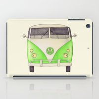 volkswagon iPad Cases featuring VW Type 2 by One Curious Chip