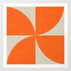 mod petals - orange Art Print