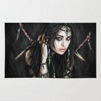 gypsy Area & Throw Rugs featuring Gypsy by Justin Gedak