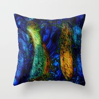 pi Throw Pillows featuring PI by RingWaveArt